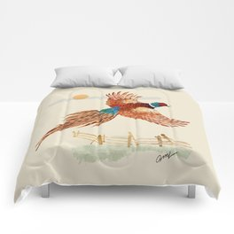 male pheasant Comforters