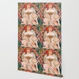 "Alfons Mucha ""F. Champenois Imprimeur-Éditeur"" Wallpaper"