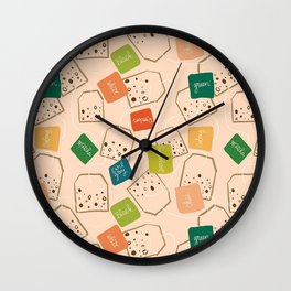 A Tangle of Teas Wall Clock