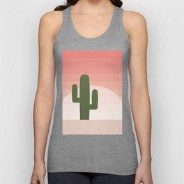 Cactus - Pink Sunset Desert Unisex Tank Top