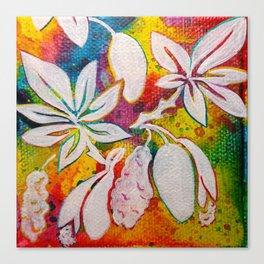 Leaves on the World Tree: Bambara Bani Canvas Print
