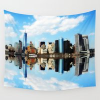 new york Wall Tapestries featuring New York New York by haroulita