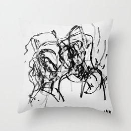 Journey to a kiss Throw Pillow