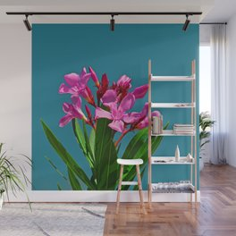 Pretty in pink under turquoise sky Wall Mural