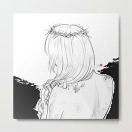 Inktober 2018: Prickly Metal Print