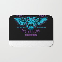 Nite Owls Social Club Bath Mat