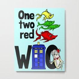 Doctor WHO Fish Metal Print