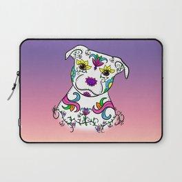 Staffordshire Bull Terrier Sugar Skull Laptop Sleeve