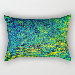 Abstract Flowers yellow and green Rectangular Pillow