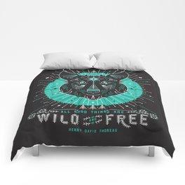 Wild & Free Wolf – Turquoise & Grey Comforters