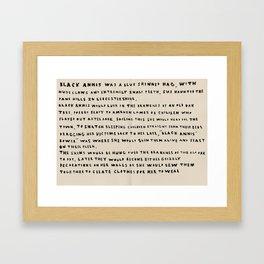 The Myth Of Black Annis  Framed Art Print