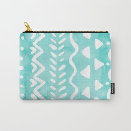 Loose boho chic pattern - aqua Carry-All Pouch