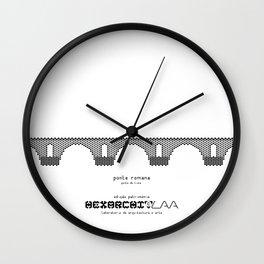 HexArchi - Portugal, Ponte de Lima, Ponte Romana Wall Clock