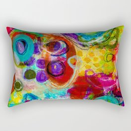 Abstract Painting - Looking forward Rectangular Pillow