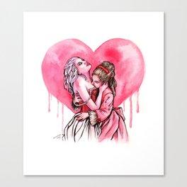Bleeding Heart Lesbians in Love Canvas Print
