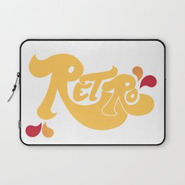 Retro Type and Pattern Design Laptop Sleeve
