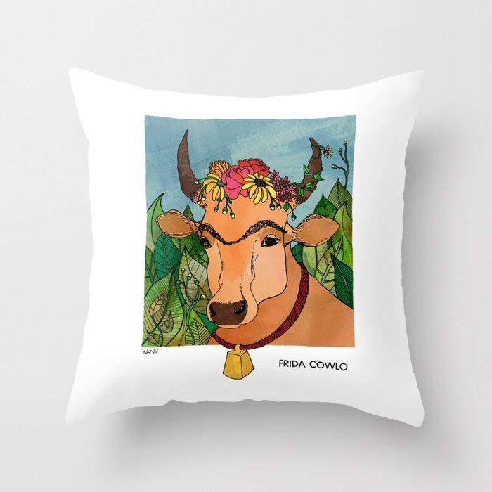 Frida Cowlo Throw Pillow