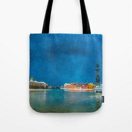 Snow Showers Over Moscow Tote Bag