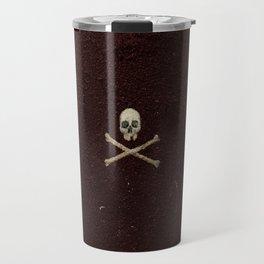 Tri Skull & Crossbones - Maroon Travel Mug