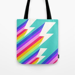 Electric Rainbow Tote Bag