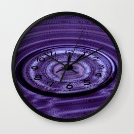 Hands of Time Purple Rippling Water Art Motif Wall Clock