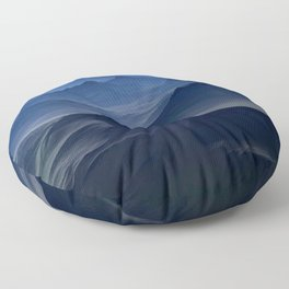 High mountains in the night light Floor Pillow