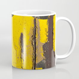 black numbers on yellow background Coffee Mug