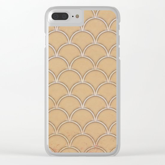 Abstract large scallops in iced coffee with texture Clear iPhone Case