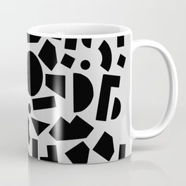 geometric black shapes Coffee Mug