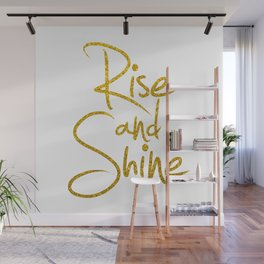 Rise And Shine Glitter Gold Wall Mural