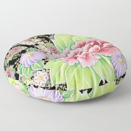 Kimono Bouquet Chintz Floor Pillow