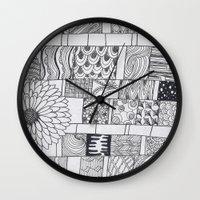 calendar Wall Clocks featuring Bloom Calendar by sinonelineman