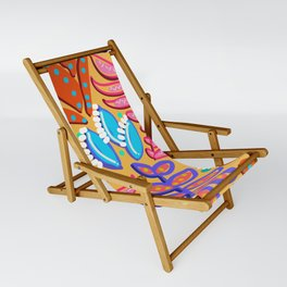 Whimsical Leaves Pattern Sling Chair