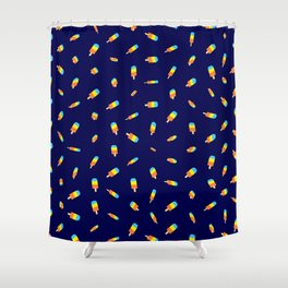 Flying ice pops  Shower Curtain