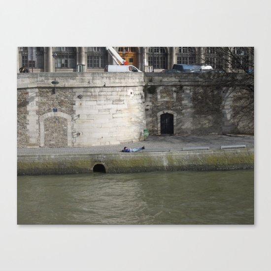Naptime in Paris Canvas Print