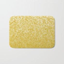 Pixels Gradient Pattern in Yellow Bath Mat