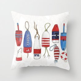 nautical buoys Throw Pillow