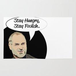 "Steve Jobs ""Stay Hungry,Stay Foolish"" Rug"