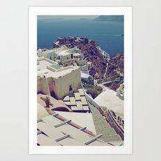 Santorini is for Lovers Art Print