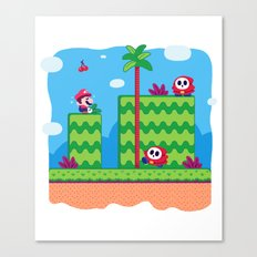 Tiny Worlds - Super Mario Bros. 2: Mario Canvas Print