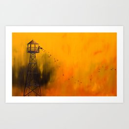 Autumn Tower Art Print