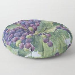 Napa Valley Grapes Floor Pillow