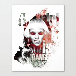 The girl is dangerous Canvas Print
