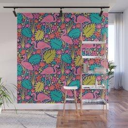 Tropical Flamingo Wall Mural