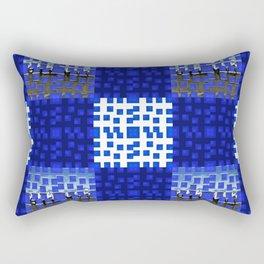 Blue Blocks Pattern #1 Rectangular Pillow