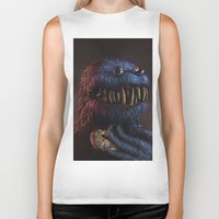cookie Biker Tanks featuring Cookie Monster by Adrián Retana