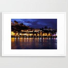 Oporto river Framed Art Print
