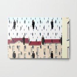 Magritte - Golconda 1953 - Artwork for Wall Art, Prints, Posters, Men, Women, Youth Metal Print