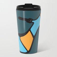 High Heel Parade - Blue & Orange Metal Travel Mug