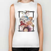 street fighter Biker Tanks featuring Street Fighter by Mazuki Arts